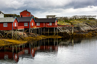 Fishing huts in Tind, Norway