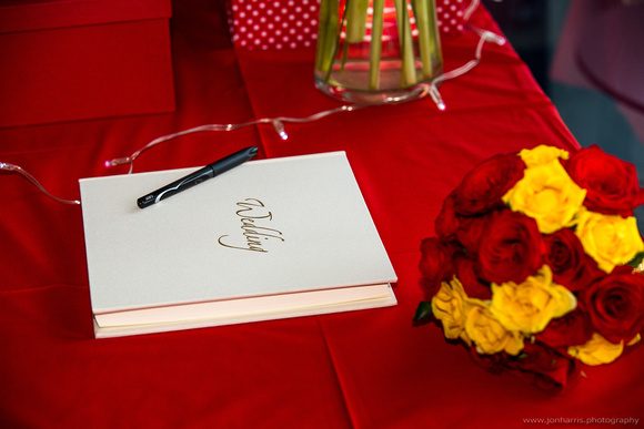 Canberra wedding - wedding book and flowers